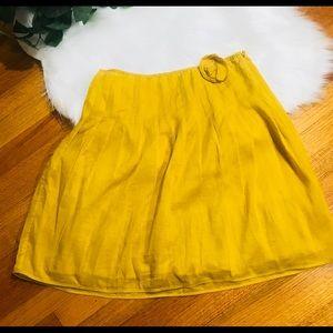 J. Crew Skirts - J. Crew mustard A line cotton skirt